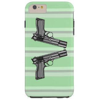 Pistolas, ejemplo de la arma de mano funda resistente iPhone 6 plus