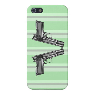 Pistolas, ejemplo de la arma de mano iPhone 5 funda