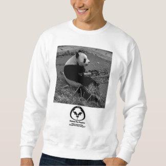 Pistolas para las pandas sudadera con capucha