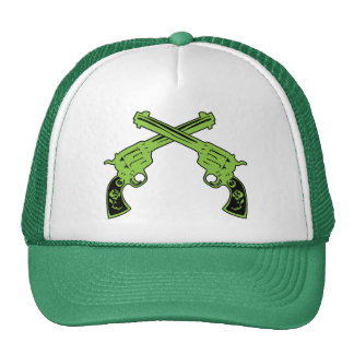 Pistolas retras verdes gorros