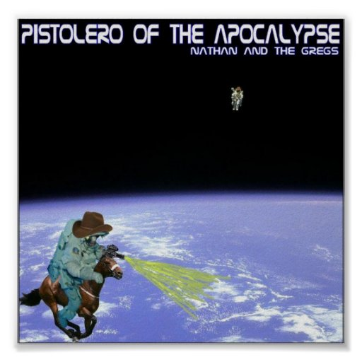 Pistolero del poster 1 de la apocalipsis