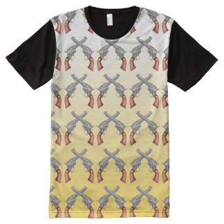 pistols crossed all shopes tee All-Over print t-shirt