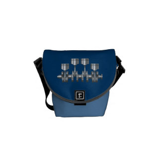Piston Crankshaft Messenger Bag