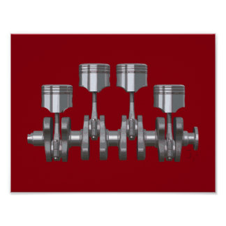 Piston Crankshaft Poster