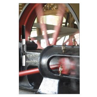 Pistón del motor de vapor pizarra