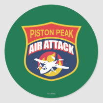 Piston Peak Air Attack Badge Classic Round Sticker