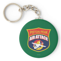 Piston Peak Air Attack Badge Keychain