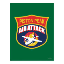 Piston Peak Air Attack Badge Postcard