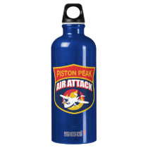 Piston Peak Air Attack Badge Water Bottle