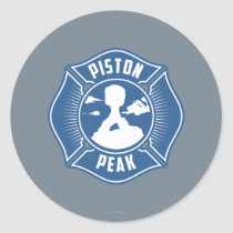 Piston Peak Badge Classic Round Sticker