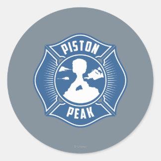 Piston Peak Badge Classic Round Sticker