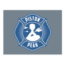 Piston Peak Badge Postcard