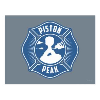 Piston Peak Badge Postcard
