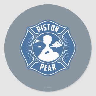 Piston Peak Badge Round Stickers