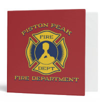 Piston Peak Fire Department Badge Binder