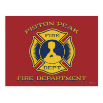 Piston Peak Fire Department Badge Postcard