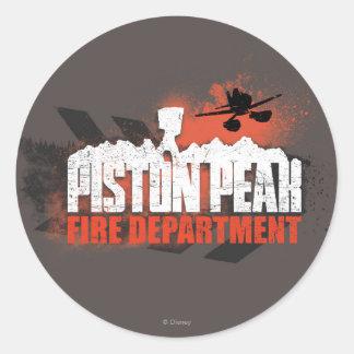 Piston Peak Fire Department Round Sticker