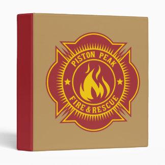 Piston Peak Fire Rescue Badge 3 Ring Binders