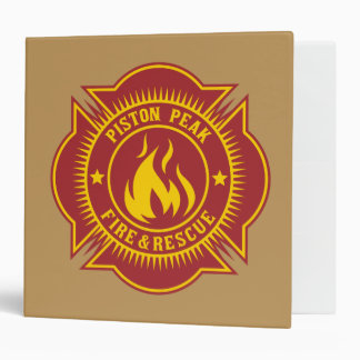 Piston Peak Fire Rescue Badge Binders