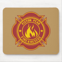 Piston Peak Fire & Rescue Badge Mouse Pad