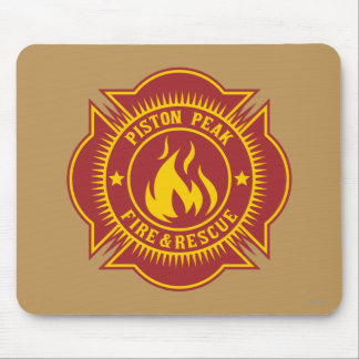 Piston Peak Fire & Rescue Badge Mouse Pad