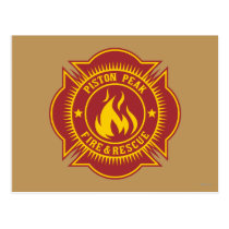Piston Peak Fire & Rescue Badge Postcard