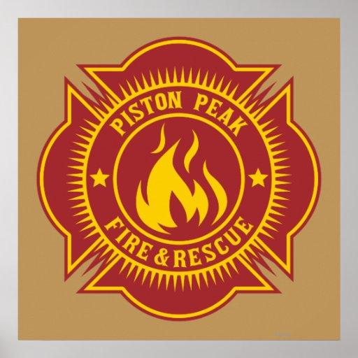 Piston Peak Fire & Rescue Badge Print