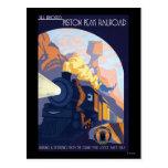 Piston Peak Railroad Illustration Postcard