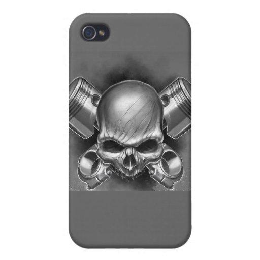 Pistones y cráneo iPhone 4 fundas