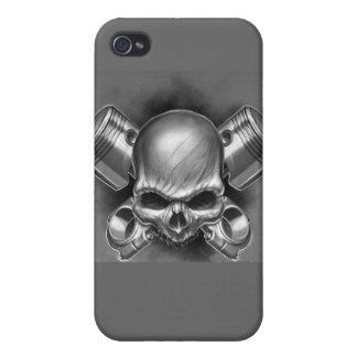 Pistones y cráneo iPhone 4 cárcasas