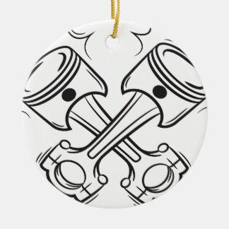 Pistons Ceramic Ornament