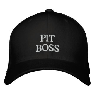 PIT BOSS EMBROIDERED BASEBALL HAT