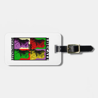 PIT BULL 4 SQUARE EDUCATE LUGGAGE TAG