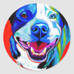 Pit Bull #5 Classic Round Sticker