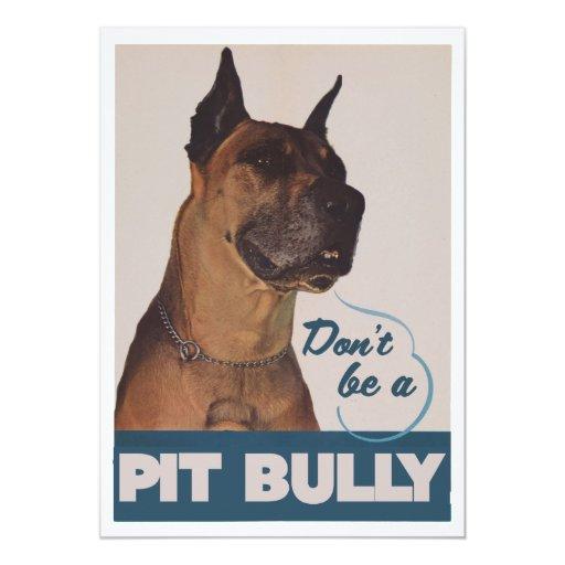 Pit Bull 5x7 Paper Invitation Card