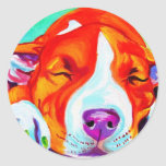 Pit Bull #7 Classic Round Sticker