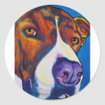 Pit Bull #9 Classic Round Sticker