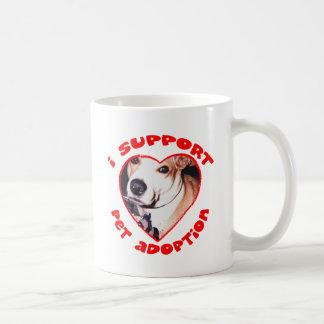 Pit bull adoption coffee mug