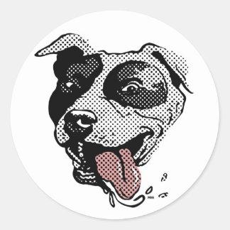 Pit Bull Big Dot Classic Round Sticker