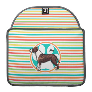 Pit Bull; Bright Rainbow Stripes Sleeves For MacBooks