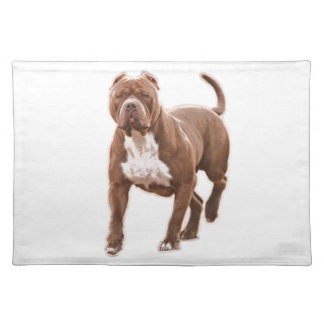 Pit bull brown placemat