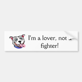 Pit Bull bumper sticker anti dog fighting