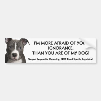 Pit Bull Bumper Sticker (white) Anti - BSL