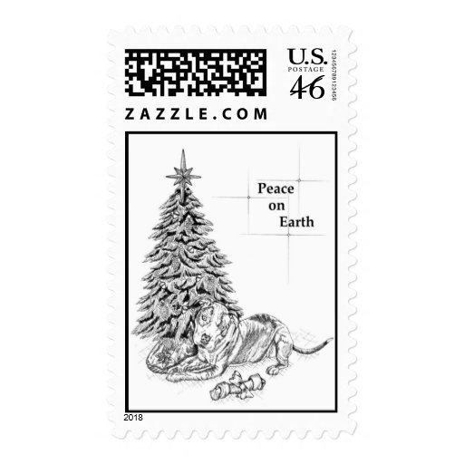 Pit Bull Christmas Stamp