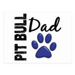 Pit Bull Dad 2 Postcard