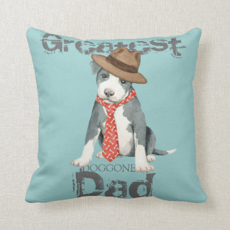 Pit Bull Dad Pillow
