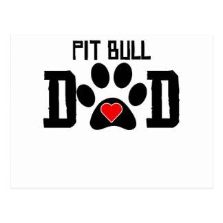 Pit Bull Dad Postcard
