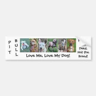 Pit Bull - Deed Not Breed Bumper Sticker