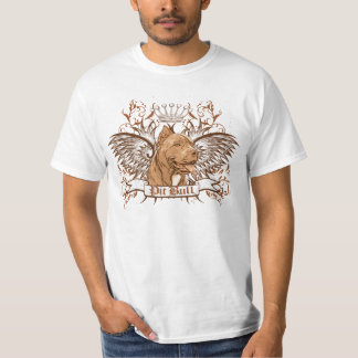 Pit Bull Dog Crest & Wings Tee Shirt