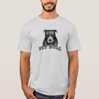 Pit Bull Dog Custom Design Dog Art - Gray Shirt